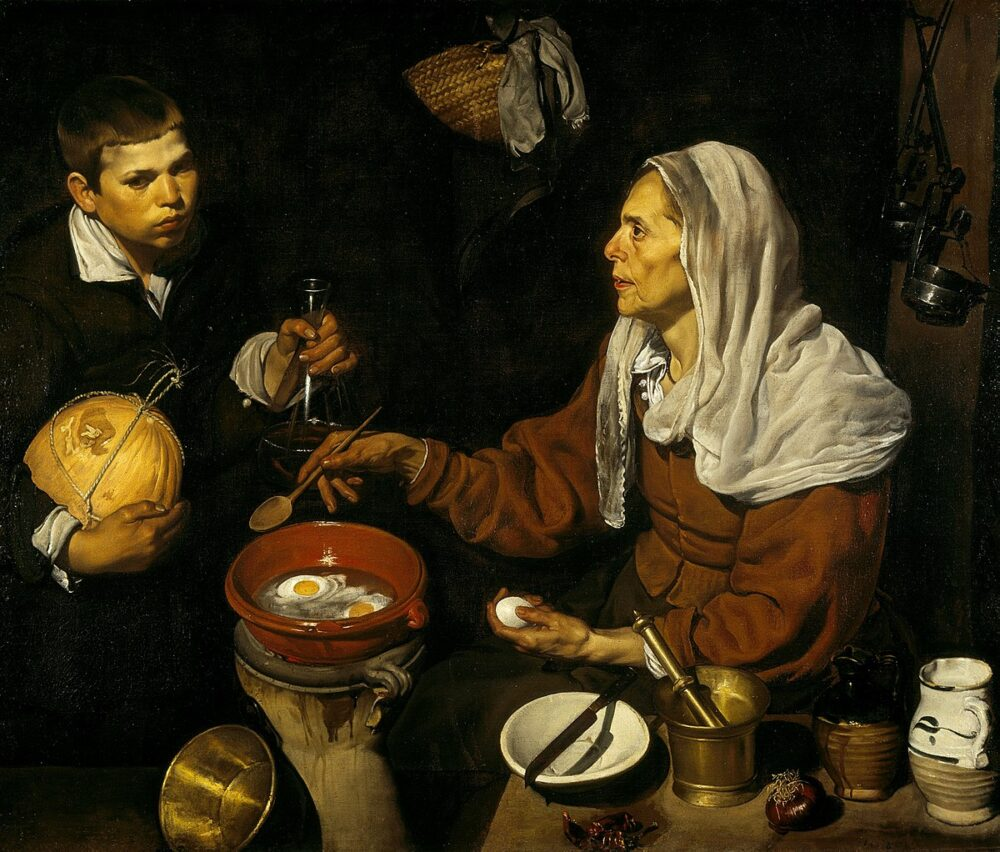 mesa-habla-vieja-friendo-huevos-velazquez