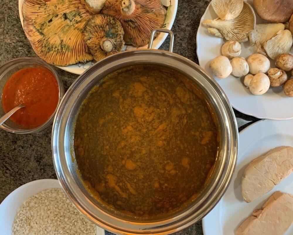 mesa-habla-arroz-meloso-setas-foie 1