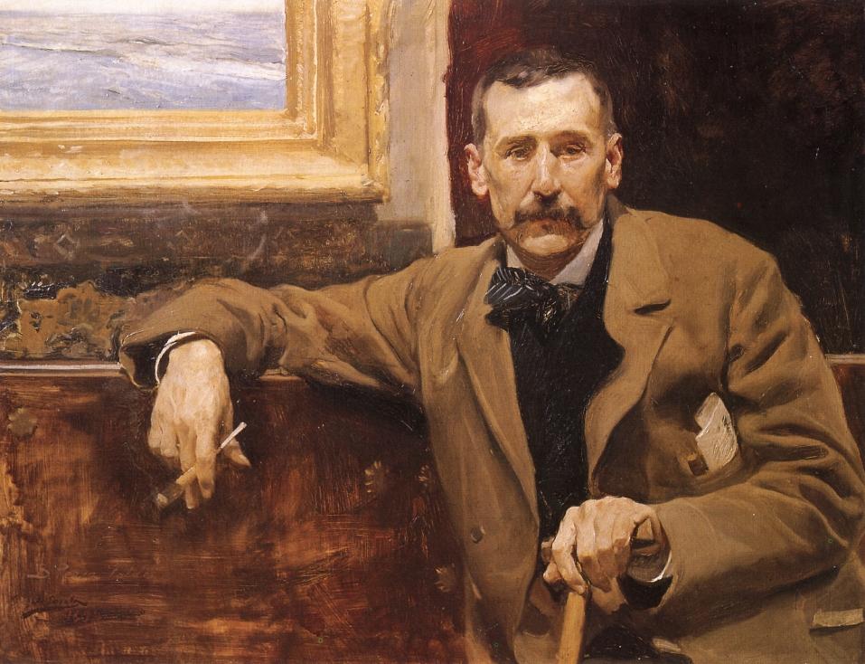 mesa-habla-sorolla-retrato-benito-perez-galdos 1894