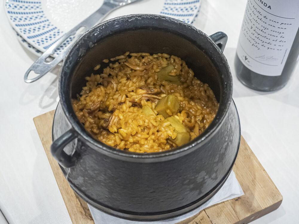 mesa-habla-alcachofa-arroz-chipirones-gambas-gloria-alarcon